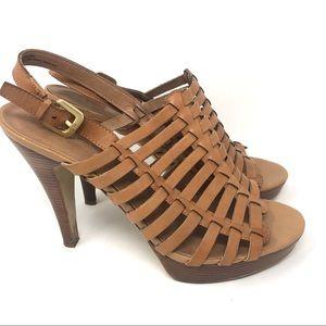 Franco Sarto Leather Platform Sandal Size 8 M
